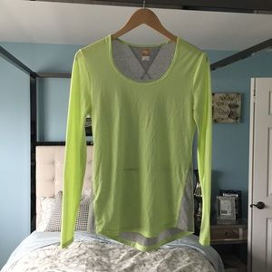 EUC Lucy LucyTech Gray Lime Green Long Sleeve Sm